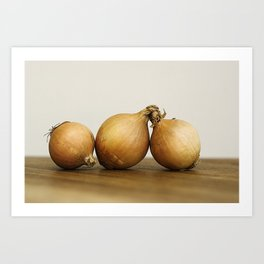 Onion trio Art Print