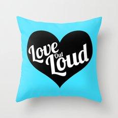 Love Out Loud - Black & White Throw Pillow