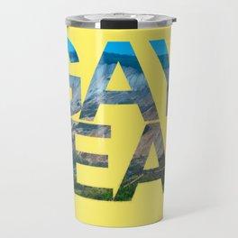 Gay Head Martha's Vineyard in Yellow Travel Mug