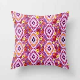 Pink, Orange, Purple Pattern Throw Pillow