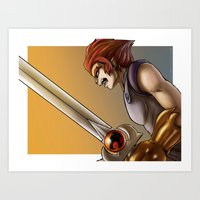 thundercats Art Prints featuring Leon-O by Sabina  Daldovo