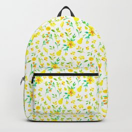 Pears, honey and spring flowers Backpack