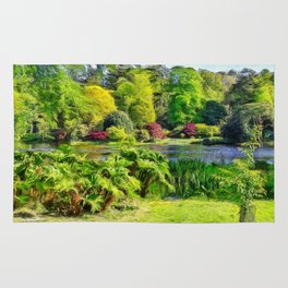 A beautiful lake. (Painting) Rug