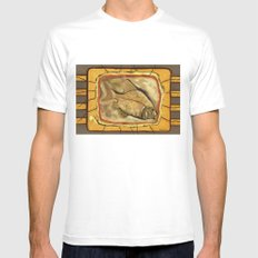 Fossil fish MEDIUM White Mens Fitted Tee
