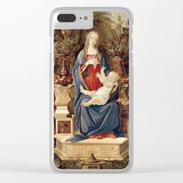 Madonna with Saints by Sandro Botticelli, 1485 Clear iPhone Case