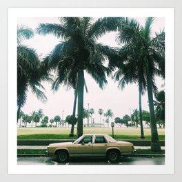 La Voiture À Miami Art Print