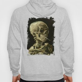 Skull Of A Skeleton With A Burning Cigarette - Vincent Van Gogh Hoody