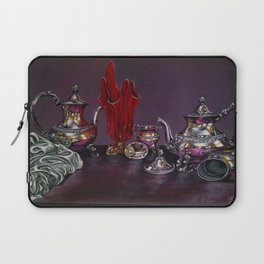 Still and red Glass Laptop Sleeve