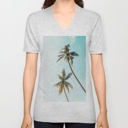 Palm Tree Beach Summer Unisex V-Neck
