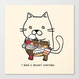 dessertxkitty Canvas Print