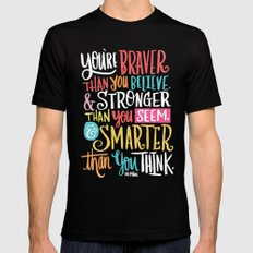 BRAVER, STRONGER, SMARTER Black 2X-LARGE Mens Fitted Tee