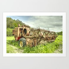 The abandoned Combine Art Print