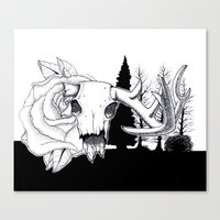 hunting Canvas Prints featuring Hunting  by Mack