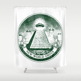 New World Order Shower Curtain