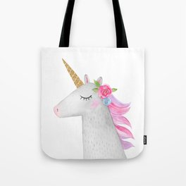 Glitter Unicorn Tote Bag