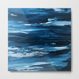 Blue Brush Strokes (Color) Metal Print