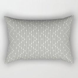 Modern Abstract Chevron Beaded Curtain Neutral Olive Gray Rectangular Pillow