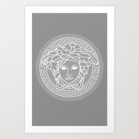 versace Art Prints featuring Versace Grey by  Can Encin