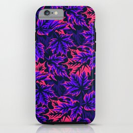 Leaves - purple/pink iPhone Case
