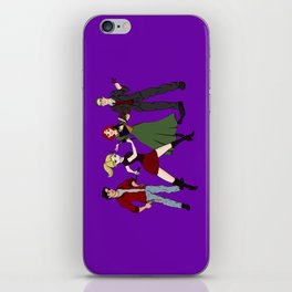 Cartoony Buffy and the gang iPhone Skin