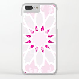 PINK Los Angeles Geometric Art Clear iPhone Case