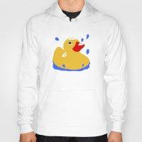duck Hoodies featuring Duck by Blueshift