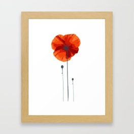 Poppy poppy poppy Framed Art Print