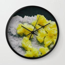 Sulfur on Celestine Wall Clock