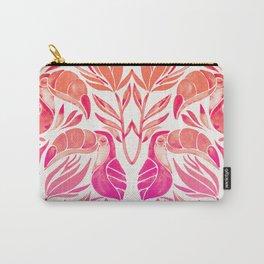 Tropical Toucans – Pink Ombré Palette Carry-All Pouch