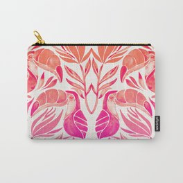 Tropical Toucans – Pink Ombré Palette Carry-All Pouch
