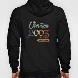 2003 Vintage Birthday Shirt for Boys and Girls Hoody