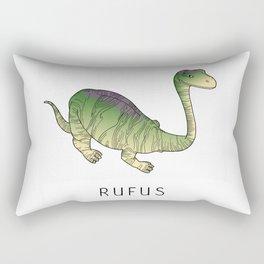 Rufus the dinosaur Rectangular Pillow