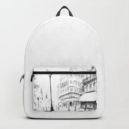 Sketch of a Street in Paris Backpack