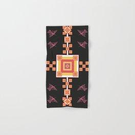 Peru: Nazca Lines (Condor) - Geometric Design (Black) Hand & Bath Towel