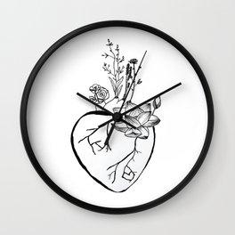 A Blooming Heart Wall Clock