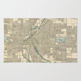 Vintage Map of Denver Colorado (1901) Rug