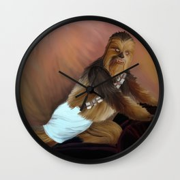 Chewbacca and the Timeless Art of Seduction Wall Clock