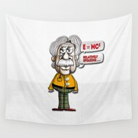 einstein Wall Tapestries featuring Relatively Einstein by Peter Gross