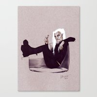 legolas Canvas Prints featuring hipster!Legolas by silvertales