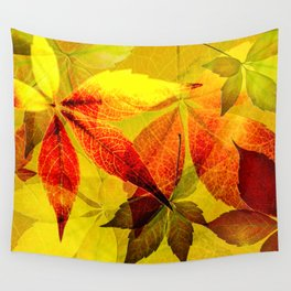Virginia Creeper autumn colors Wall Tapestry