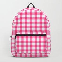 Gingham Print - Pink Backpack