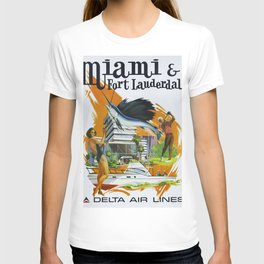 Vintage poster - Miami and Fort Lauderdale T-shirt