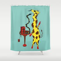 dance Shower Curtains featuring Dance by Anna Shell