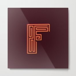 Letterform F Metal Print