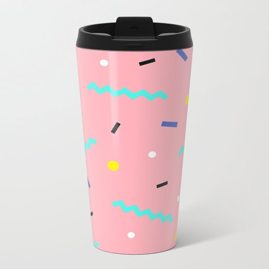 Memphis pattern 54 Metal Travel Mug