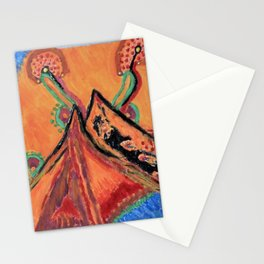 """ the mountain "" Stationery Cards"