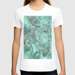 Mint Gem Green Marble Swirl T-shirt