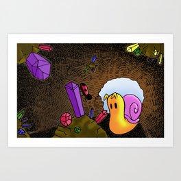 Penelope & Claire Cave Adventure Art Print
