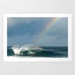 John John Florence over the rainbow Art Print