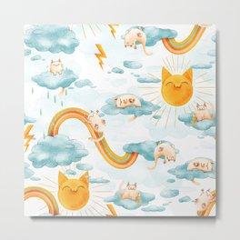 Weather Cats Metal Print